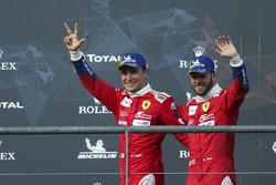 LMGTE Pro podium: third place #71 AF Corse Ferrari 488 GTE EVO: Davide Rigon, Sam Bird