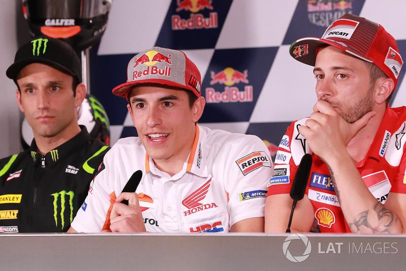 Johann Zarco, Monster Yamaha Tech 3, Marc Marquez, Repsol Honda Team, Andrea Dovizioso, Ducati Team