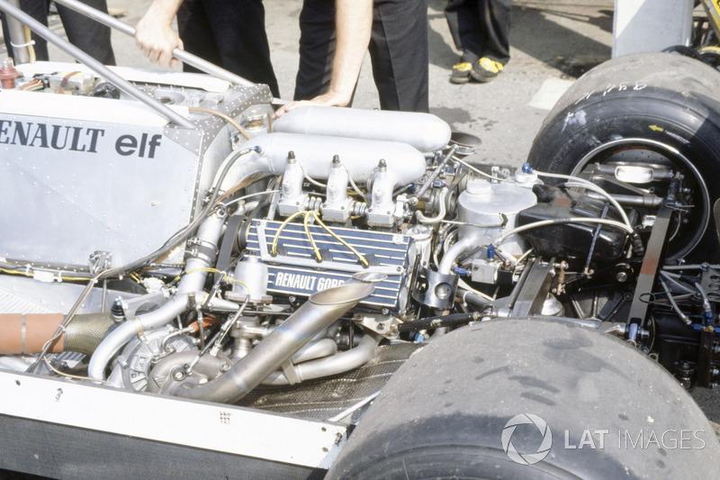 Le moteur turbo de la Renault RE30 de René Arnoux