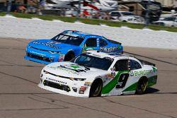 Tyler Reddick, JR Motorsports, Chevrolet Camaro BurgerFi and Matt Tifft, Richard Childress Racing, Chevrolet Camaro Wastebits