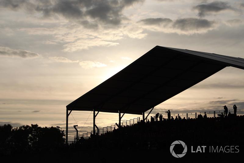 Fans at dusk