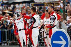 #1 Rebellion Racing Rebellion R-13: Andre Lotterer, Neel Jani, Bruno Senna e #3 Rebellion Racing Rebellion R-13: Mathias Beche, Gustavo Menezes, Thomas Laurent