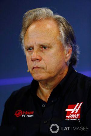 Gene Haas, directeur, Haas F1 Team, lors de la conférence de presse