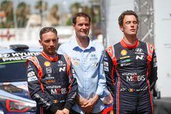 Ganadores Thierry Neuville, Nicolas Gilsoul, Hyundai Motorsport Hyundai i20 Coupe WRC