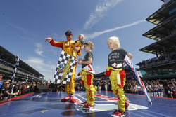 Ryan Hunter-Reay, Andretti Autosport Honda and sons Ryden, Rocsen and Rhodes