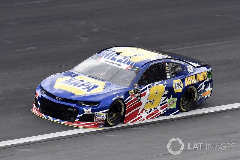 22. Chase Elliott, Hendrick Motorsports, Chevrolet Camaro NAPA AUTO PARTS Patriotic