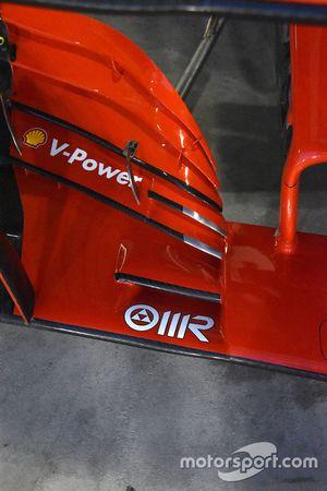 Ferrari SF71H, dettaglio dell'ala anteriore