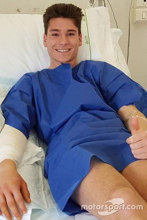 Samuele Cavalieri, Barni Racing Team, dopo l'intervento di fasciotomia all'avambraccio destro