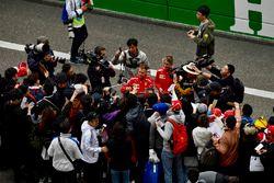 Sebastian Vettel, Ferrari signs autographs for the fans