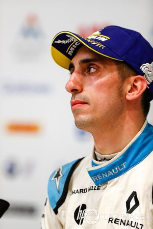Sébastien Buemi, Renault e.Dams in the post race press conference