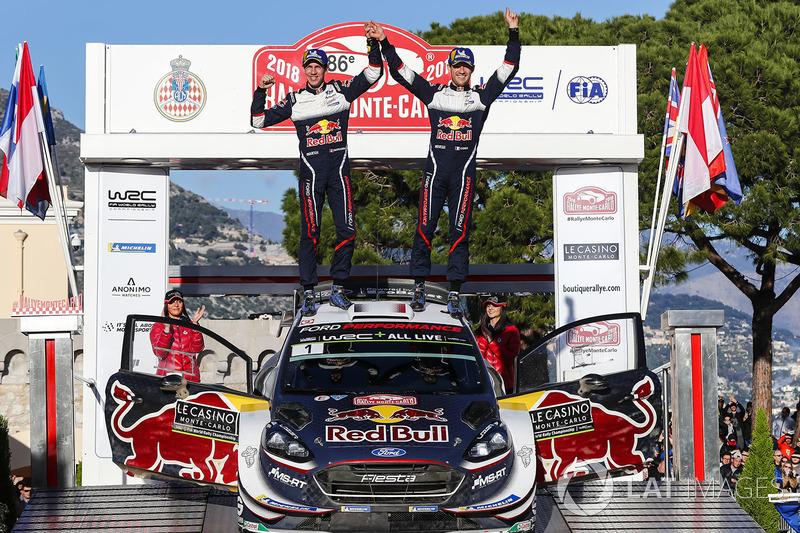 Les vainqueurs Sébastien Ogier, Julien Ingrassia, Ford Fiesta WRC, M-Sport Ford