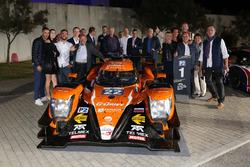#22 G-Drive Racing, Oreca 07 - Gibson: Memo Rojas, Ryo Hirakawa, Leo Roussel con el equipo