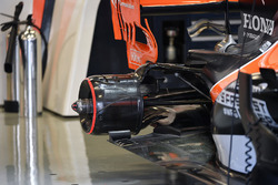 McLaren MCL32 rear wheel hub and rear floor