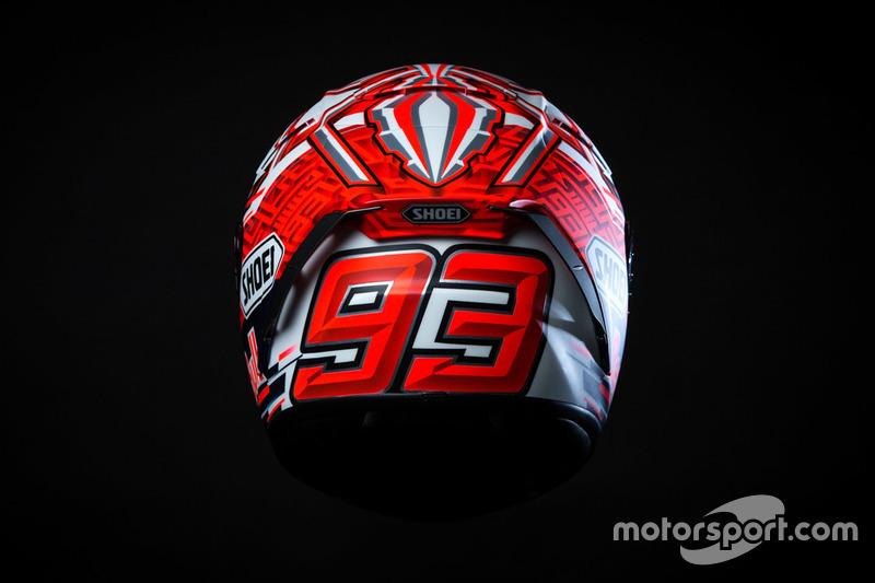 Helm van Marc Marquez, Repsol Honda Team