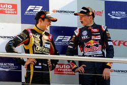 Подиум: Эстебан Окон, Prema Powerteam, Макс Ферстаппен, Van Amersfoort Racing