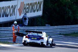 Maxime Martin, BMW Team RBM, BMW M4 DTM stopped on track