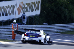 Maxime Martin, BMW Team RBM, BMW M4 DTM stopped on track