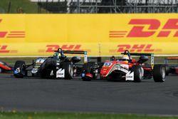 Joel Eriksson, Motopark, Dallara F317 - Volkswagen and Callum Ilott, Prema Powerteam, Dallara F317 -