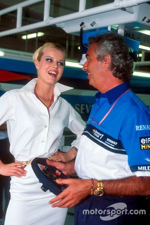 Flavio Briatore, Benetton, with model Eva Herzigova