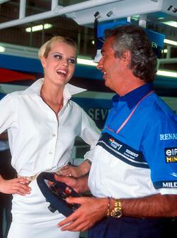 Flavio Briatore, Benetton, with model Eva Herzigova