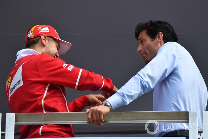 Sebastian Vettel, Ferrari y Mark Webber