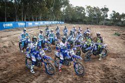 I piloti motocross Yamaha