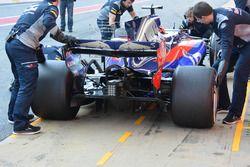 Carlos Sainz Jr., Scuderia Toro Rosso STR12 detalle del alerón trasero