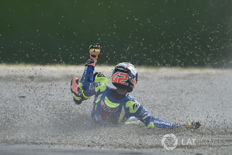 Alex Rins, 6 crashes