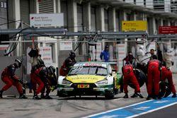 Arrêt au stand : Mike Rockenfeller, Audi Sport Team Phoenix, Audi RS 5 DTM