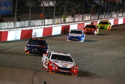Joey Logano, Team Penske Ford, Denny Hamlin, Joe Gibbs Racing Toyota