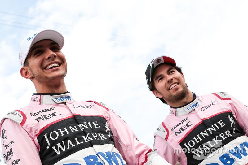 Sergio Pérez, Sahara Force India y Esteban Ocon, Sahara Force India