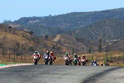 Leon Camier, MV Agusta leads the start