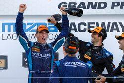 Podium: winners Renger van der Zande, Marc Goossens, Visit Florida Racing, third place Ricky Taylor,