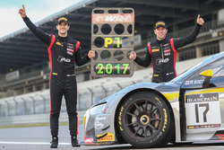 Race winners and champions #17 Belgian Audi Club Team WRT Audi R8 LMS: Stuart Leonard, Robin Frijns