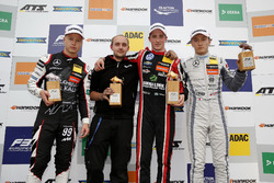 Podium: Race winner Joel Eriksson, Motopark Dallara F317 - Volkswagen, second place Nikita Mazepin, Hitech Grand Prix, Dallara F317 - Mercedes-Benz, third place Tadasuke Makino, Hitech Grand Prix, Dallara F317 - Mercedes-Benz