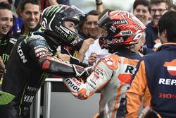 Race winner Marc Marquez, Repsol Honda Team, second place Jonas Folger, Monster Yamaha Tech 3