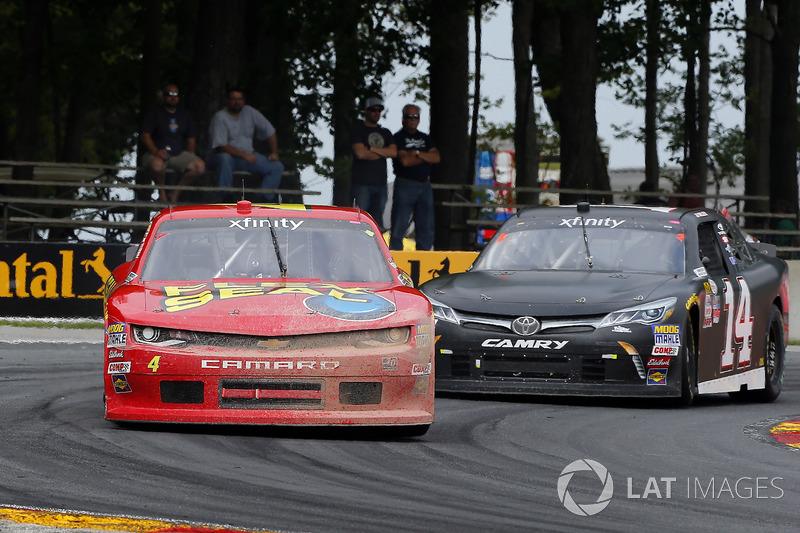 Ross Chastain, JD Motorsports Chevrolet and J.J. Yeley, TriStar Motorsports Toyota