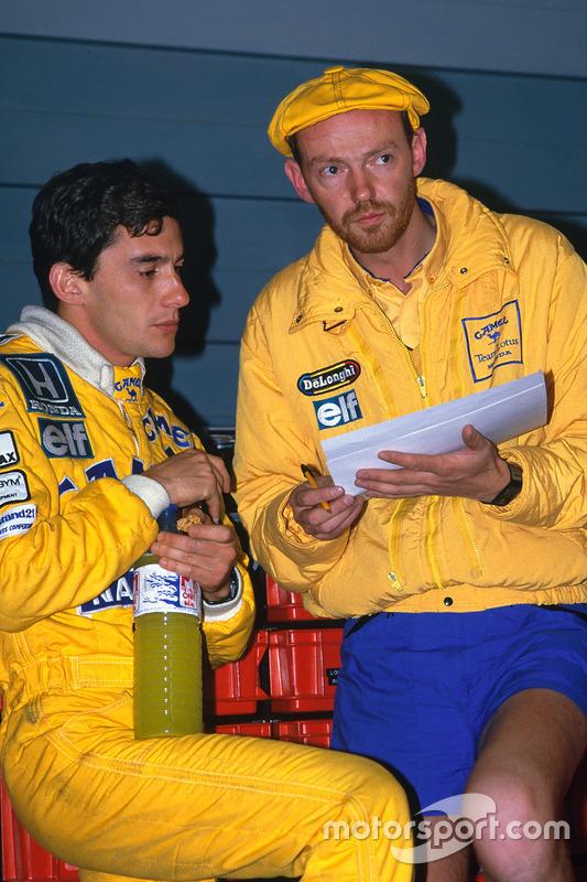 Ayrton Senna, Team Lotus, ve yarış mühendisi Steve Hallam