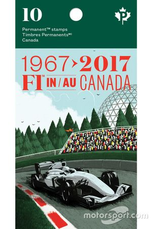 F1 in Canada stamps booklet
