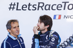 Alain Prost with Nicolas Prost, Renault e.Dams
