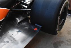 Detalle del suelo del McLaren MCL32