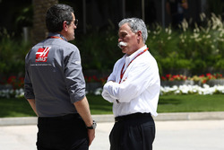 Guenther Steiner with Chase Carey