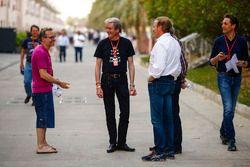 Jacques Villeneuve with media