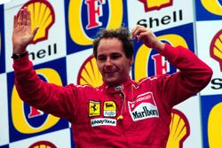 Podium: third place Gerhard Berger, Ferrari