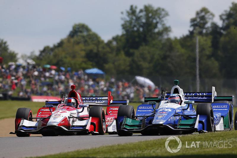 Takuma Sato, Andretti Autosport Honda, Marco Andretti, Andretti Autosport with Yarrow Honda