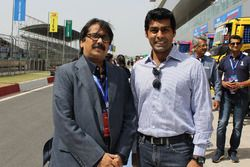 Sanjay Sharma, Head JK Tyre Motorsport and Karun Chandhok