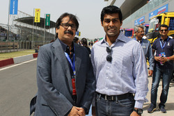 Sanjay Sharma, Head JK Tyre Motorsport and Karun Chandhok