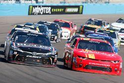 Erik Jones, Joe Gibbs Racing, Toyota; Justin Allgaier, JR Motorsports, Chevrolet