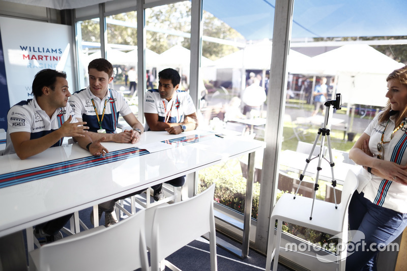 Felipe Massa, Williams, Paul di Resta y Karun Chandhok, en el lugar de Williams