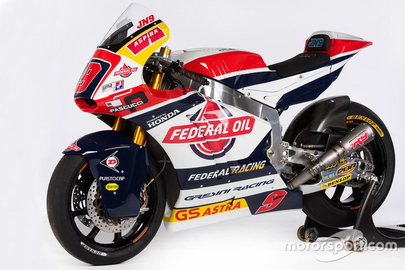 La moto de Jorge Navarro, Federal Oil Gresini Moto2